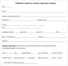 10 Volunteer Application Template Word Pdf Free Premium
