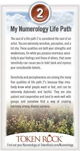Numerology Chart 2 Life Path 2 Numerology At Tokenrock