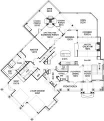 bear lake house plan for lakefront custom ranch home building Lake View Ranch House Plans bear lake timber house first floor plan home building design Ranch House Plans with Basements