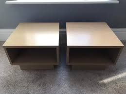 argos home cube end side tables beech effect