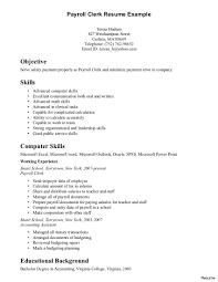 Payroll Resume Sample Clerk Resume Sample Accounting Clerk Resume Accounting Clerk Resume 8