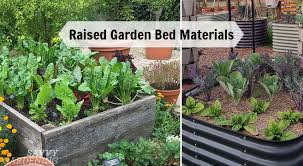raised garden bed materials options