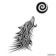 Wolf Tattoo Wolf Tattoo Tribal Vector Design Sketch Simple Logo