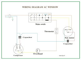 wiring diagram ac window refrigeration & air conditioning freezer electrical diagram at Refrigeration Control Wiring Diagram