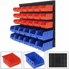 30pcs plastic bins wall mounted storage