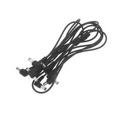 guitar accessory 8 ways electrode daisy chain cable wire harness color black maximum current 3000ma product weight 73g 2 6 oz divided 1 8 power outputs connect up to 8 effects to power made of copper wire