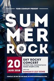 Concert Invite Template Summer Rock Concerts Invitation Design Template 97644