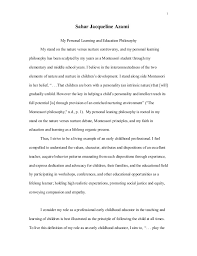 personal teaching philosophy essay statement of personal teaching philosophy my love of teaching and