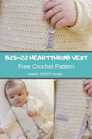 Drops Design Baby Blanket B25 22 Heartthrob Vest Mycrochetpattern