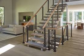 Open Concept Interior with Cable Railing - Modern - Staircase ...