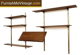 mid century modern wall mounted shelving system furnish me vintage modern wall shelves mid century modern