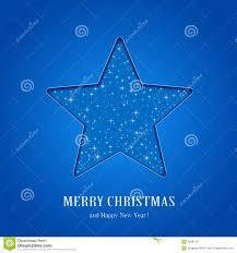 Blauer Weihnachtsstern Vektor Abbildung Illustration Von