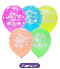 Sempertex Balloon Color Chart 10x Latex Balloons Neon 5 Colors Assorted Stars Printed Happy Birthday Party Decorations B Day Supplies