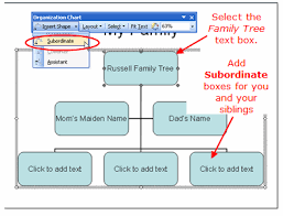 tree in powerpoint family trees using the powerpoint organization chart