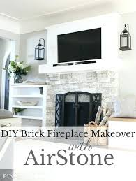 brick fireplace makeover with how to cover a replace stone veneer