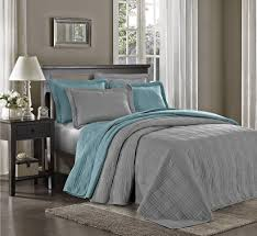 Amazon.com: Chezmoi Collection Kingston 3-piece Oversized ... & Amazon.com: Chezmoi Collection Kingston 3-piece Oversized Bedspread Coverlet  Set (King, Gray): Home & Kitchen Adamdwight.com