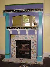 mosaic tile fireplace. Beautiful Tile Mosaic Fireplace Completed On Mosaic Tile Fireplace L