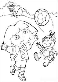 Small Picture Soccer Dora the Explorer coloring pages Free Printable Coloring