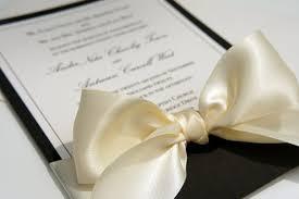 Elegant Wedding Invitations With Ribbon Vertabox Com