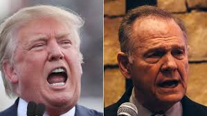 Image result for moore and trump images