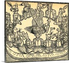 king arthur and the round table woodcut of king and the knights of the round table king arthur and the round table