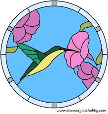 color hummingbird round design hummingbird outline stained glass pattern