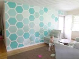 How to create your own Hexagon Feature Wall with DIY stencil (video  tutorial!) and custom paint tips