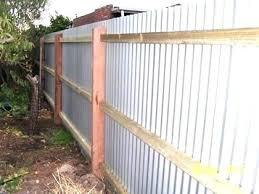 diy corrugated metal fences throughout sheet fence plan 0