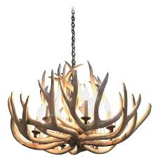 very impressive authentic antique bleached antler chandelier for