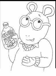 arthur 30 cartoons coloring pages