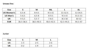 Aqualung Fins Size Chart Aqua Lung Fin Size Guide