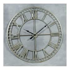 miller large metal gray silver edging wall clocks iron clock roman numerals uk