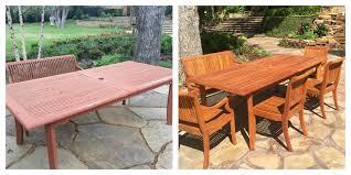 patio furniture refinishing teak
