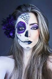 pin by taurus 16 on half face sugar skull makeup sugar skulls make up and costumes