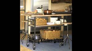Rolling Kitchen Island Table Rolling Kitchen Island Youtube