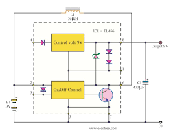 simple 1 5v to 9v step up dc converter circuit using tl496 micro dc converter 3v to 9v using tl496