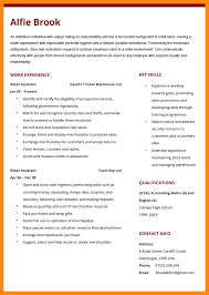 sales assistant cv example cv retail example delli beriberi co