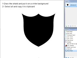 Paint Net Templates Make A 3d Shield Icon Creations Paint Net Forum