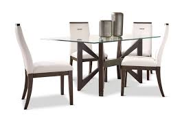 Tempo Glass Dining Table With 4 Chairs Hom Furniture