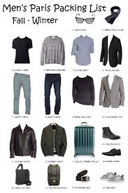 Not only for competive price qualified product but also for excellent service. Paris Packing List For Men Fall Winter 2020 2021 World In Paris