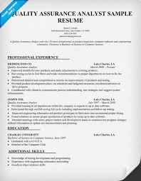 Gallery Of Resume Of Qa Engineer Quality Assurance Resume Examples