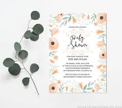 Do It Yourself Baby Shower Invitation Templates Floral Diy Baby Shower Invitation