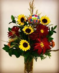 sunflowers rovers happy birthday flowers with fall desing