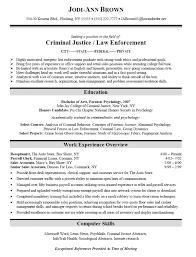 Criminal Justice Resume Techtrontechnologies Com
