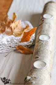 log tea light candle holder by the wood grain cottage