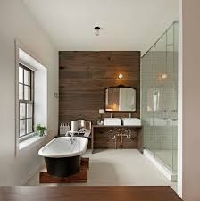 wood plank accent wall contemporary