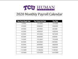 The year 2021s maximum week number is wn 52. Tcu Pay Period Calendar 2021 2021 Pay Periods Calendar
