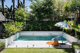 Backyard Pool Designs For Small Yards Extraordinary Small Yard Small Pool