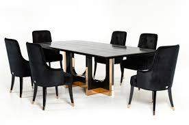 modern black large crocodile dining set
