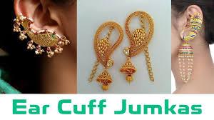 Ear Cuffs Indian Design Ear Cuff Peacock Jumka Bluetooth Jumka Earrings Designs